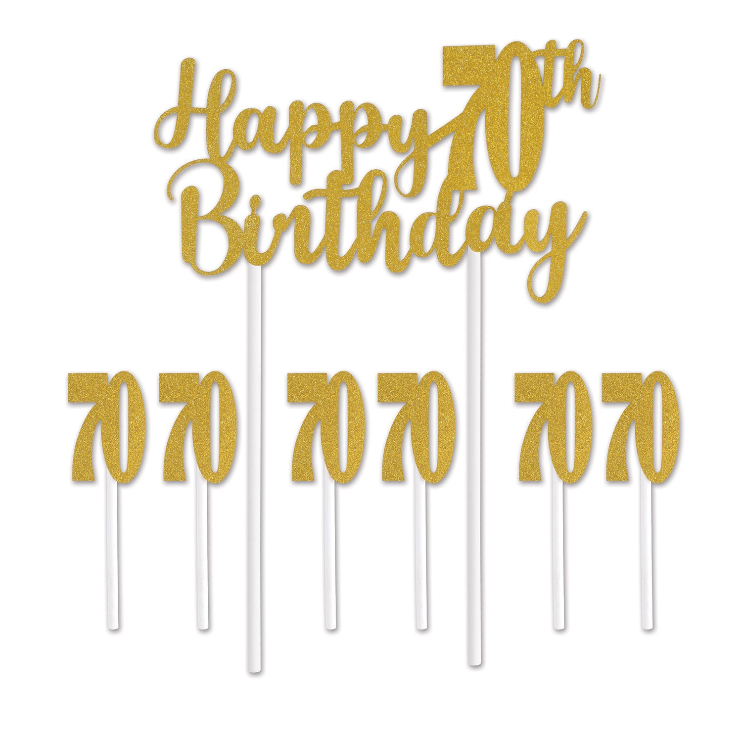 Happy 70th Birthday Cake Topper by Beistle - 70th Birthday Party Decorations
