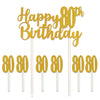 Happy 80th Birthday Cake Topper by Beistle - 80th Birthday Party Decorations