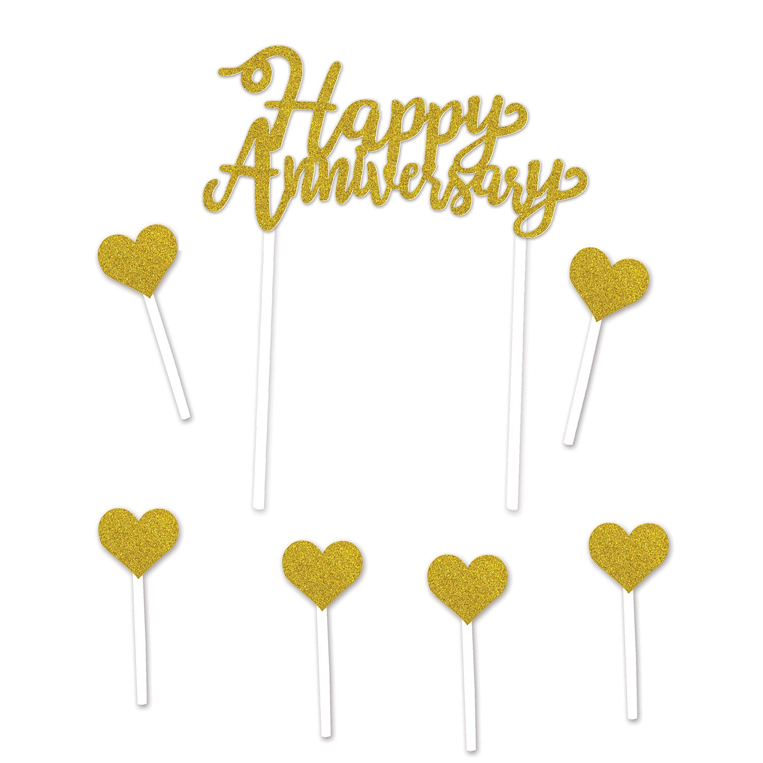 Happy Anniversary Cake Topper by Beistle - Anniversary Theme Decorations