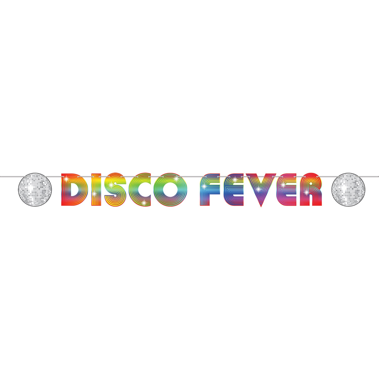 70's Disco Fever Streamer by Beistle - 70's Theme Decorations
