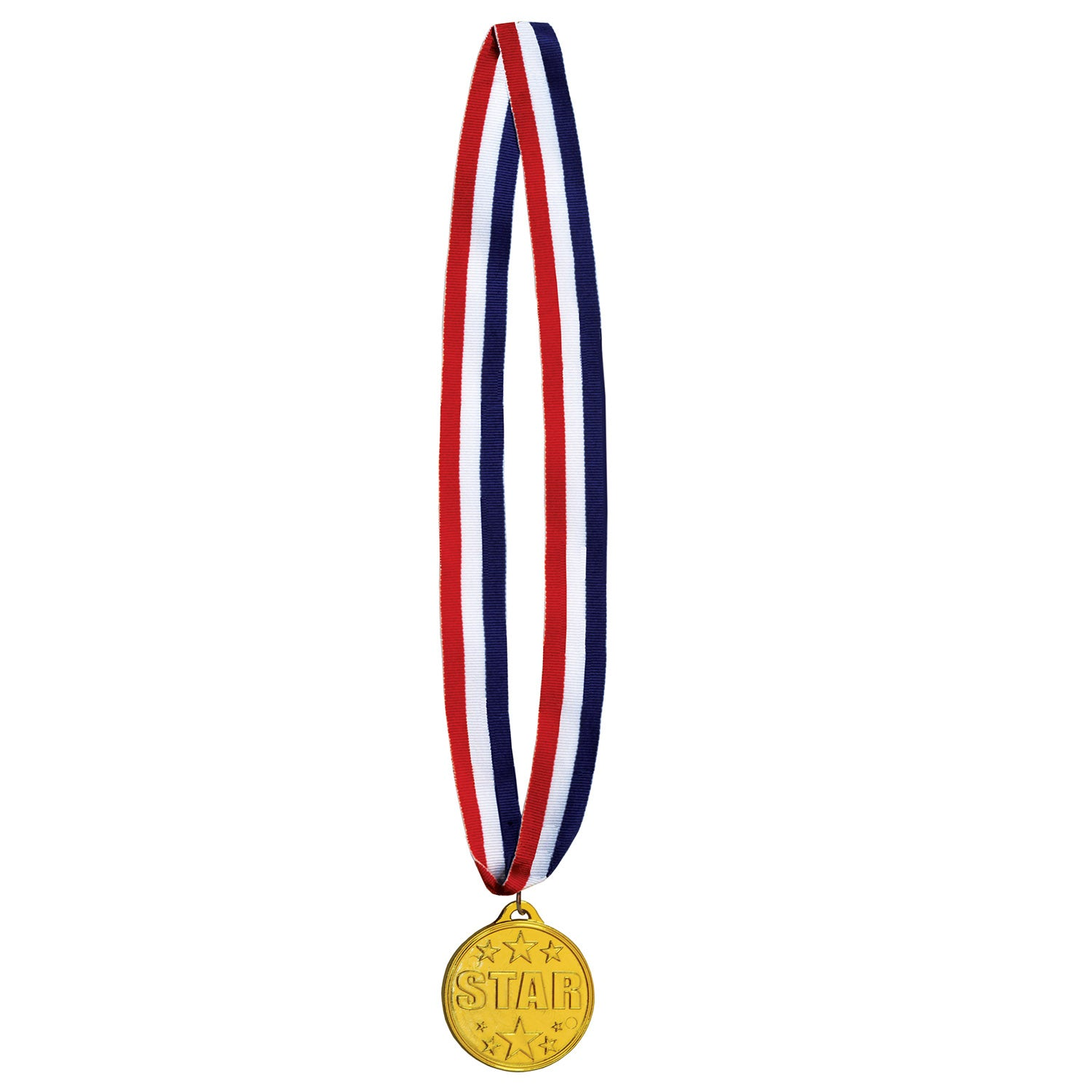 Star Medal w/Ribbon by Beistle - Sports Theme Decorations