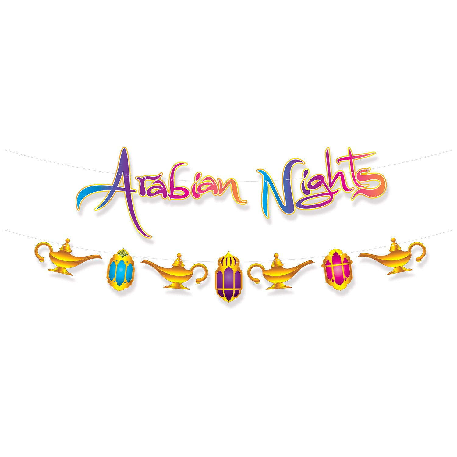 Arabian Nights Streamer Set by Beistle - Arabian Nights Theme Decorations