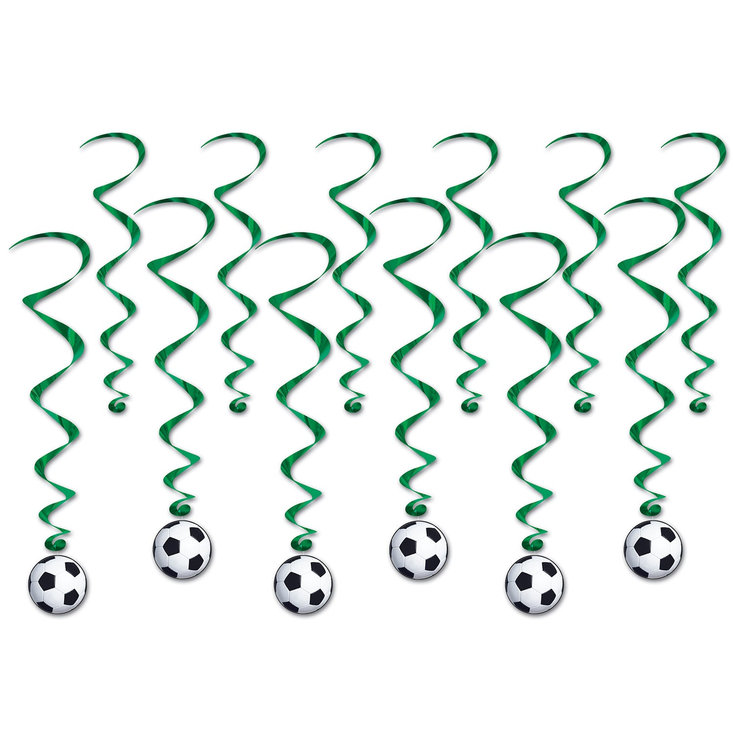 Soccer Ball Whirls (12/Pkg) by Beistle - Soccer Theme Decorations