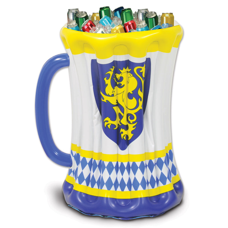 Inflatable Beer Stein Cooler by Beistle - Oktoberfest Theme Decorations