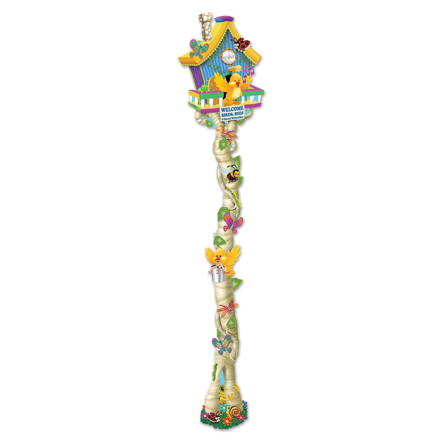 Jointed Spring Birdhouse by Beistle - Spring/Summer Theme Decorations