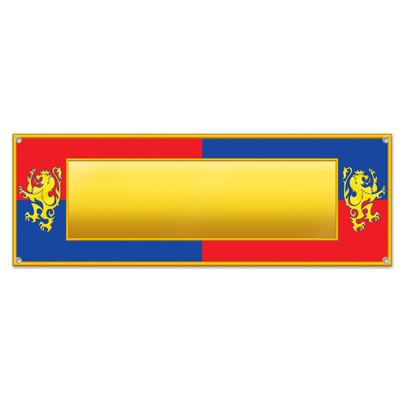 Medieval Sign Banner by Beistle - Medieval Theme Decorations