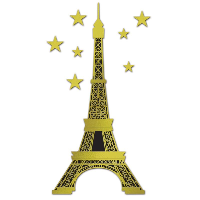 Jointed Foil Eiffel Tower by Beistle - French Theme Decorations