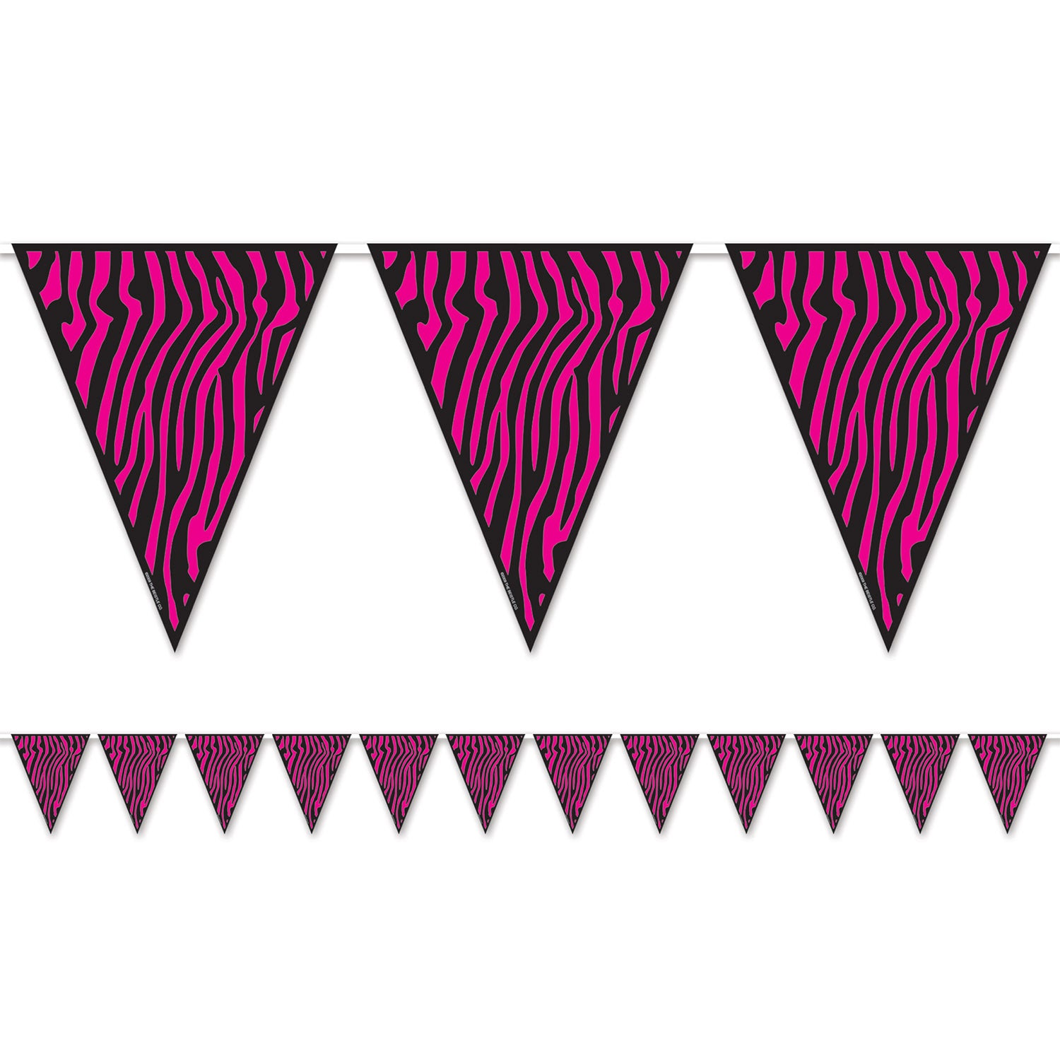 Zebra Print Pennant Banner by Beistle - Sweet 16 Birthday Decorations