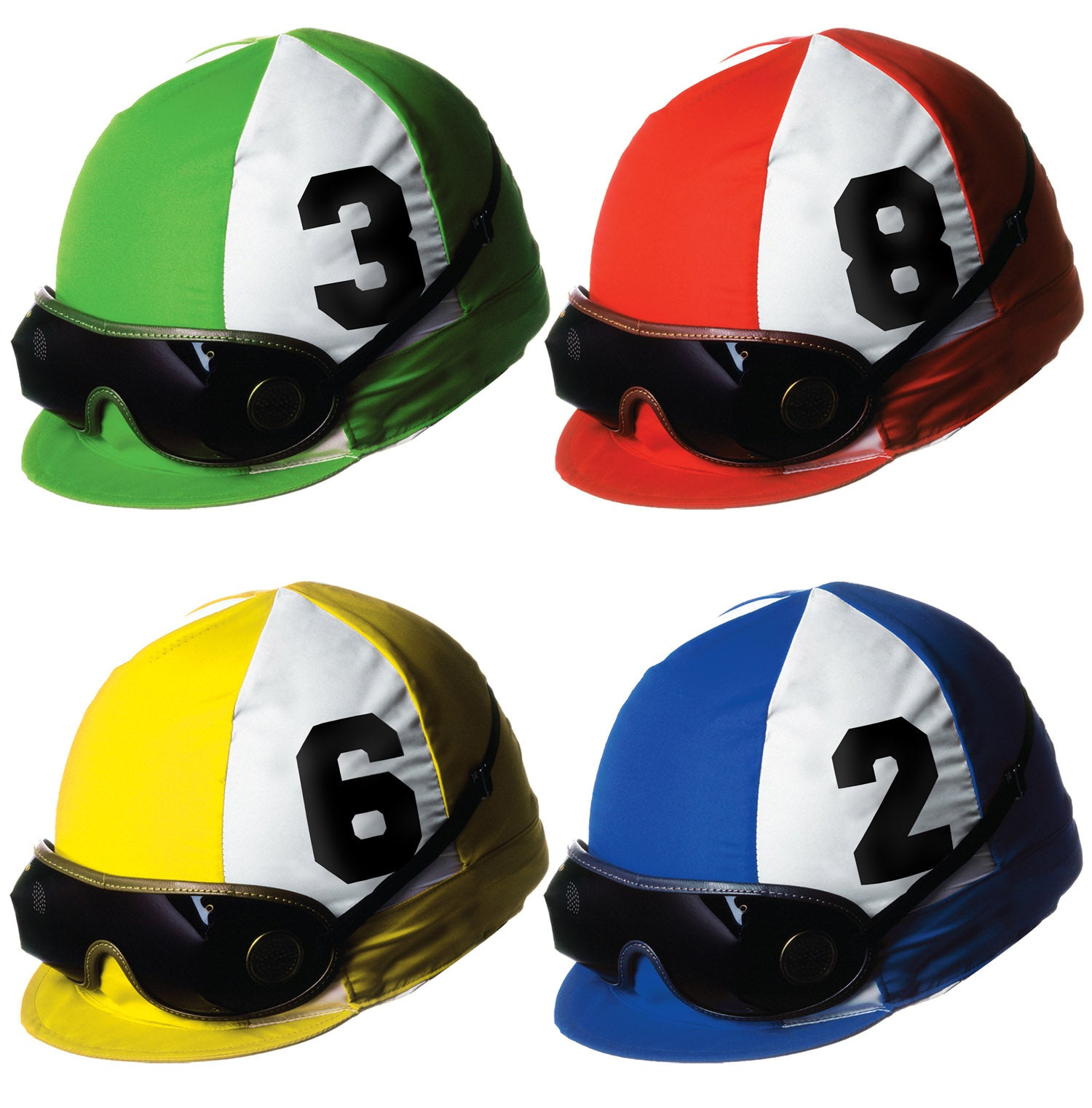 Jockey Helmet Cutouts (4/Pkg) by Beistle - Derby Day Theme Decorations