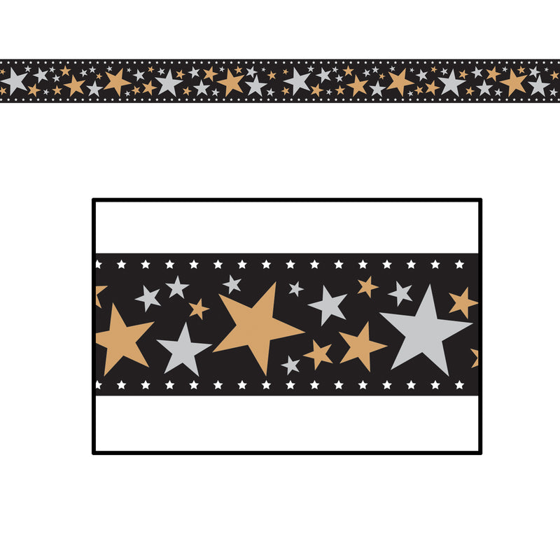 Star Filmstrip Poly Decorating Material by Beistle - Awards Night Theme Decorations