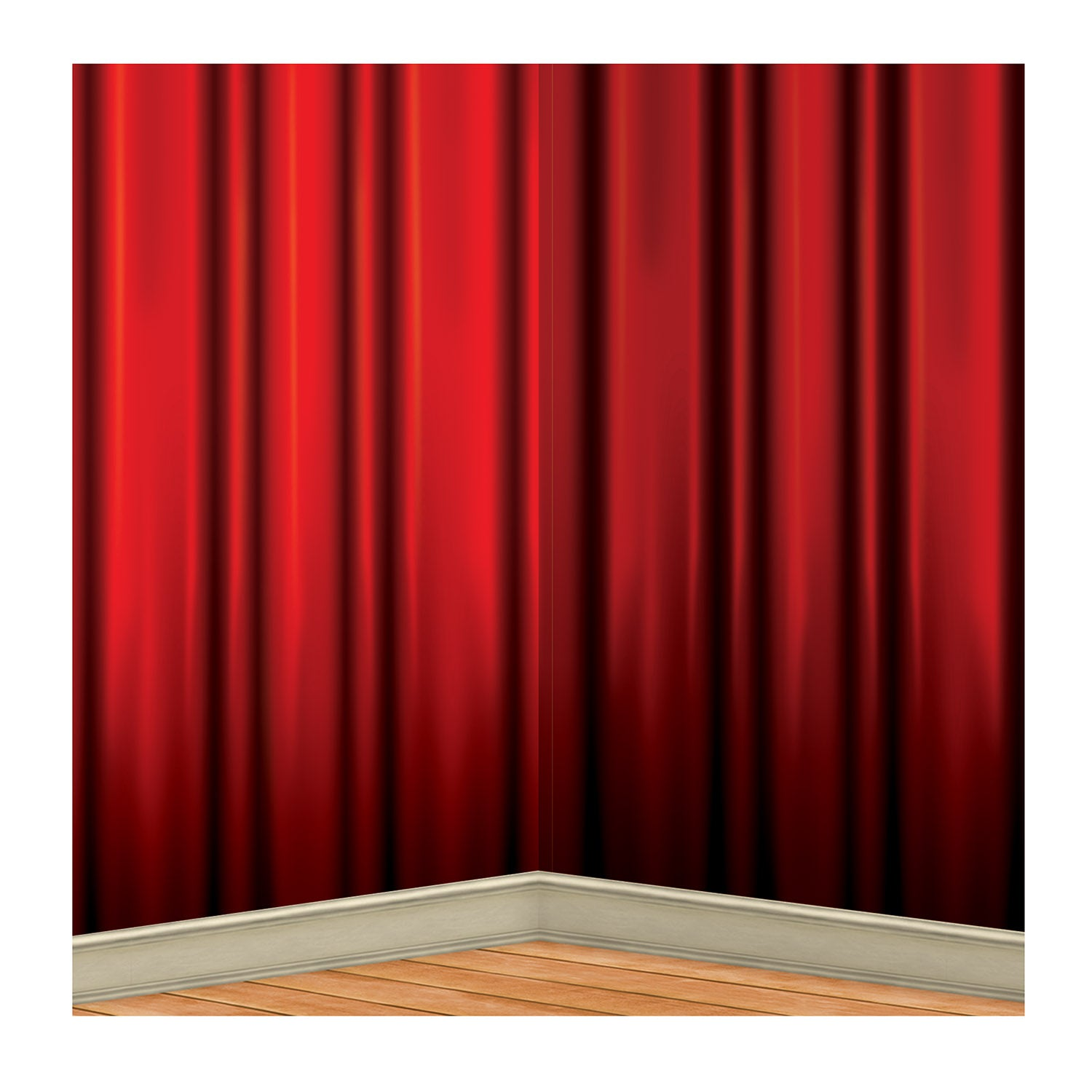 Red Curtain Backdrop by Beistle - Awards Night Theme Decorations