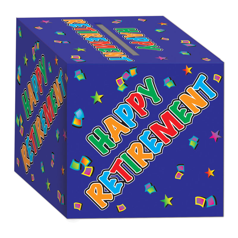 Retirement Card Box by Beistle - Retirement Theme Decorations