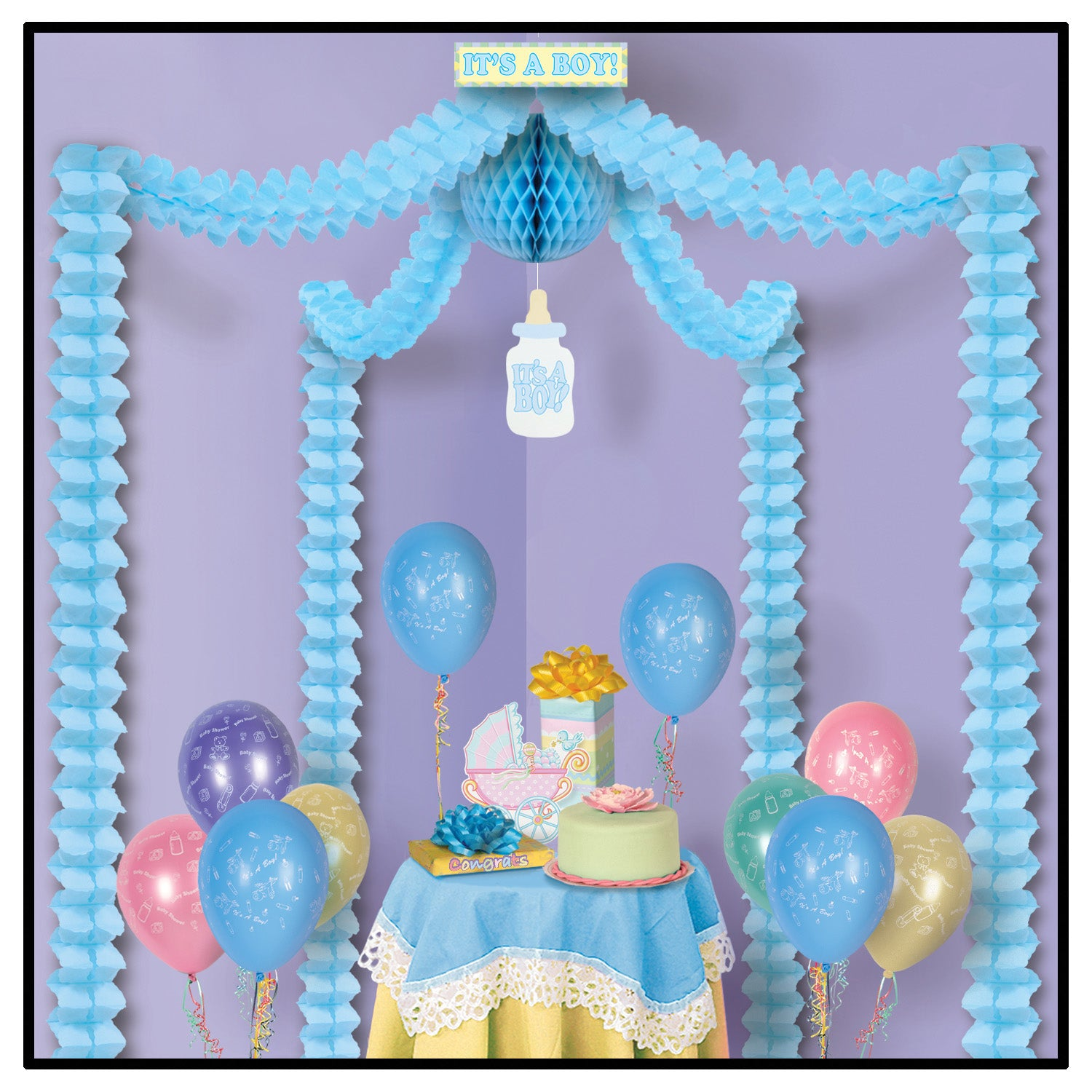It's A Boy! Party Canopy by Beistle - Baby Shower Theme Decorations