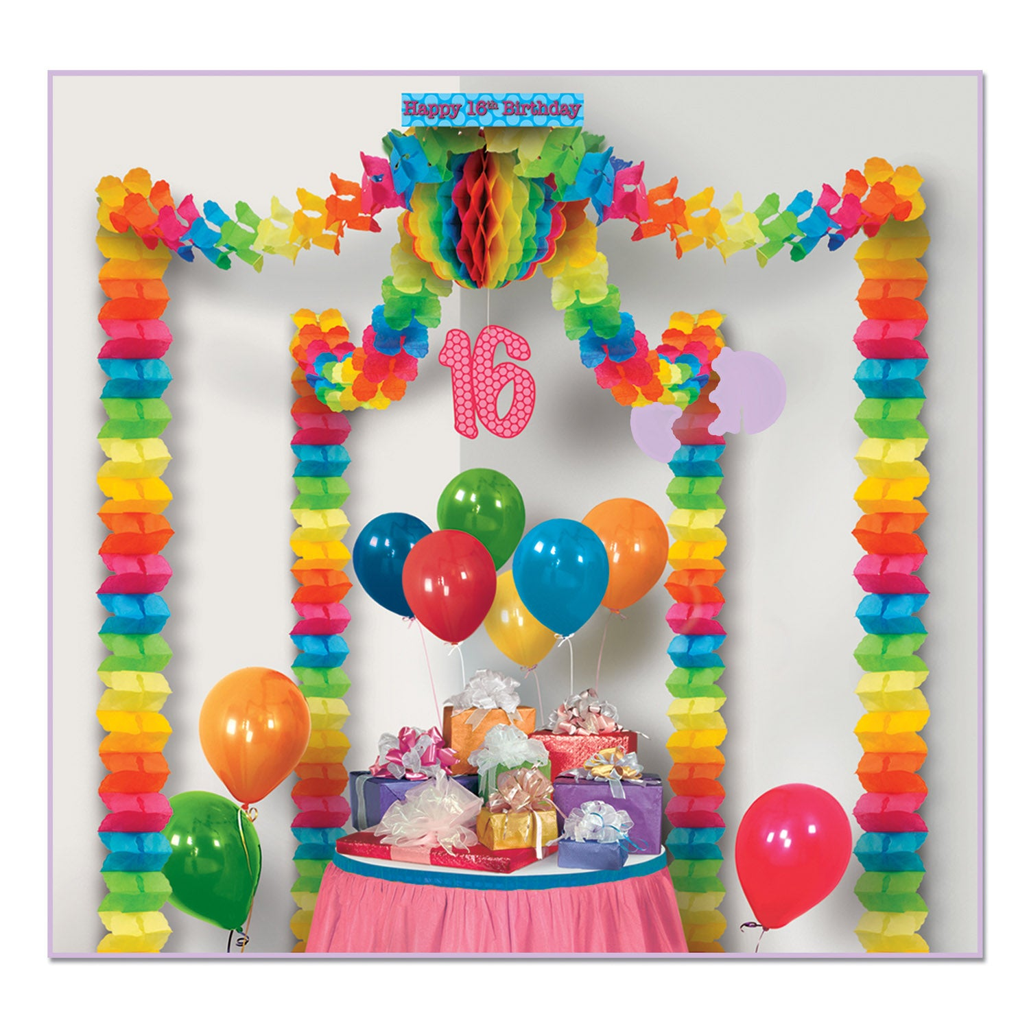 16th Birthday Party Canopy by Beistle - Sweet 16 Birthday Decorations