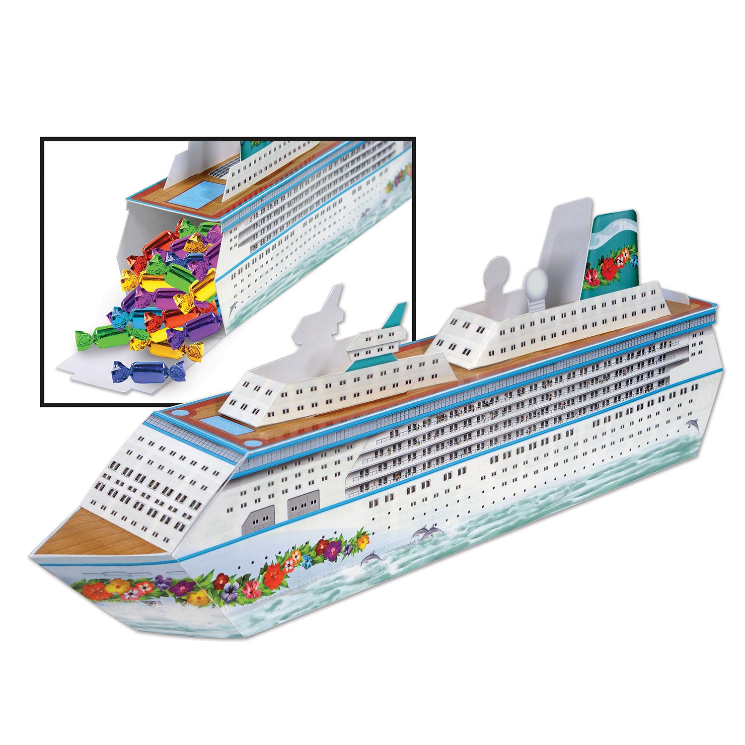 3-D Cruise Ship Centerpiece by Beistle - Nautical Theme Decorations