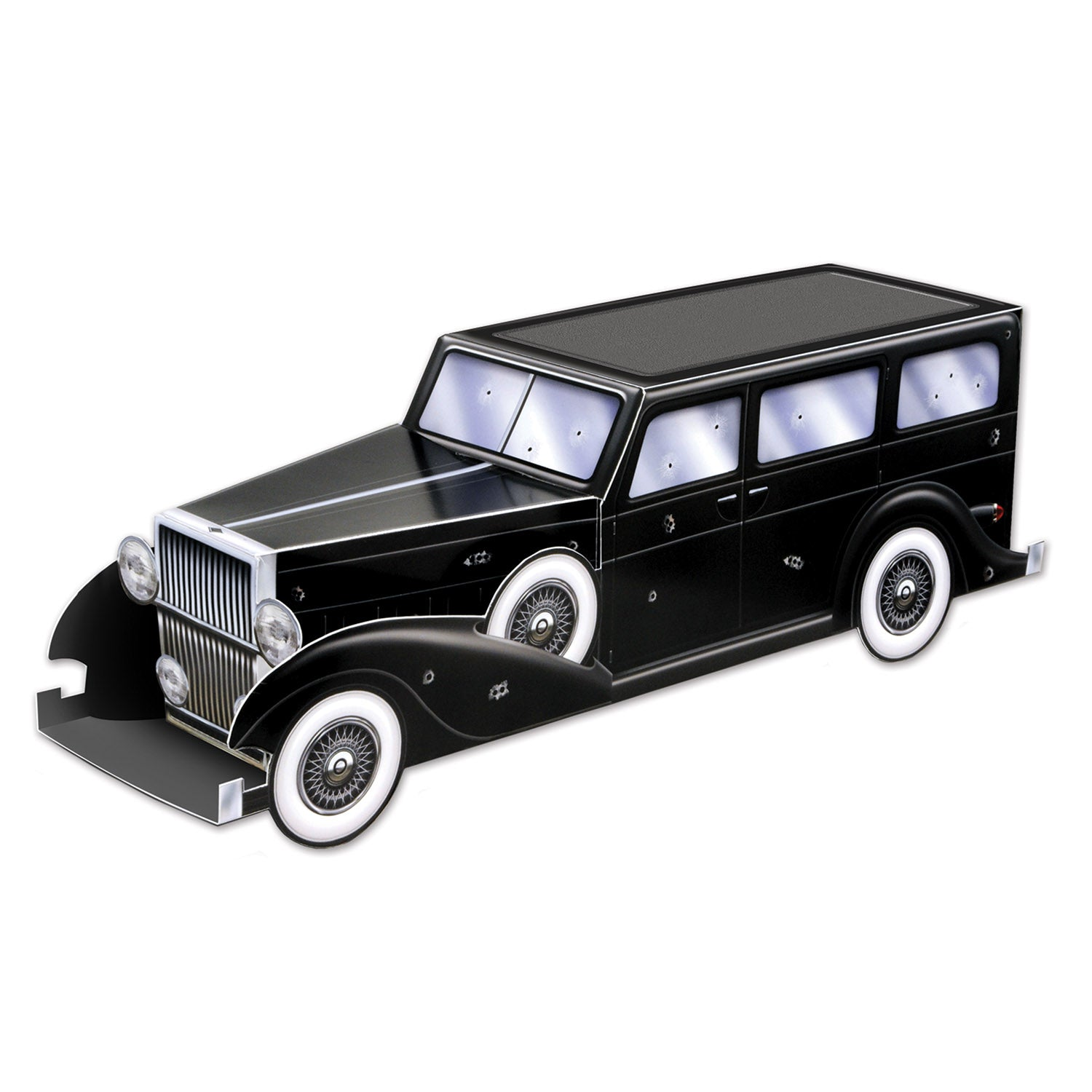3-D Gangster Car Centerpiece by Beistle - 20's Theme Decorations