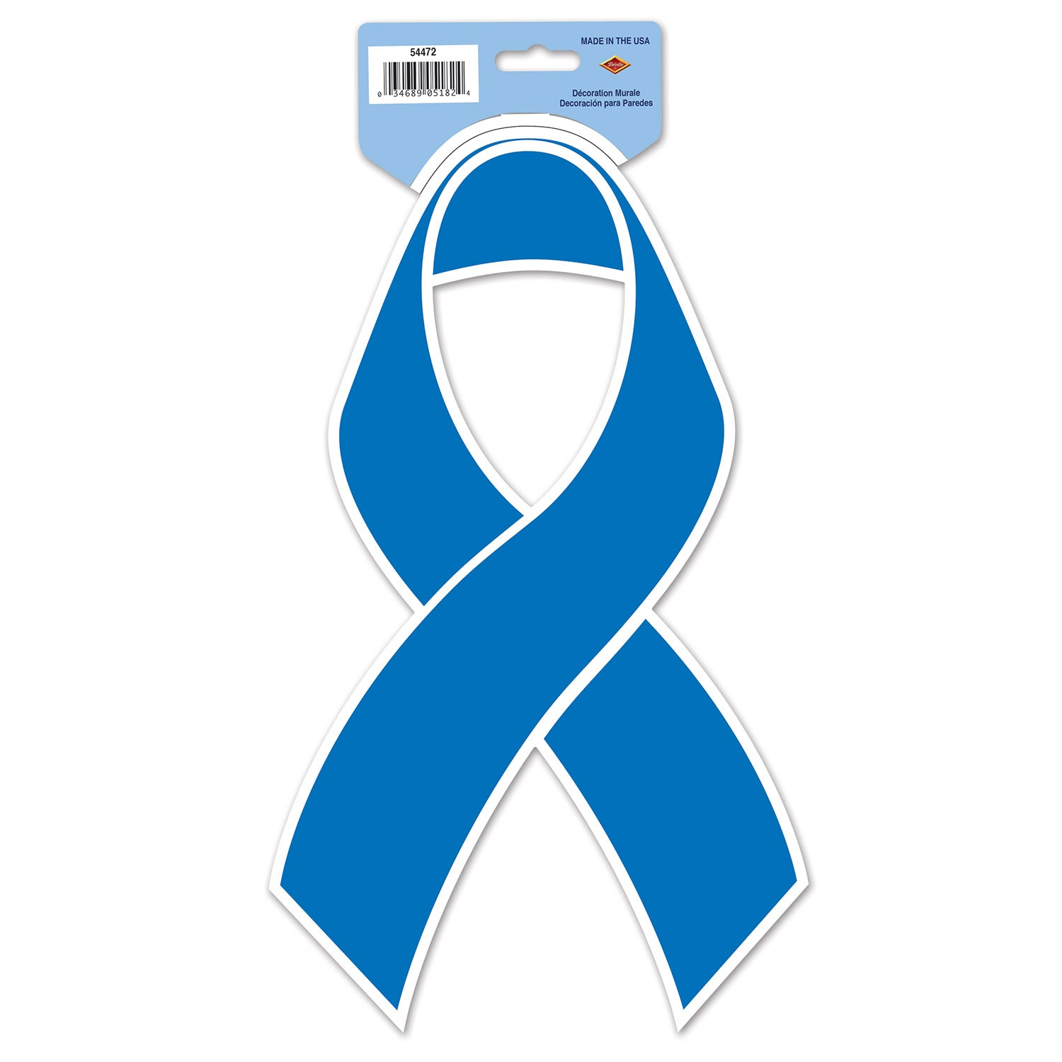 Blue Ribbon Cutout by Beistle - Blue Ribbon Theme Decorations