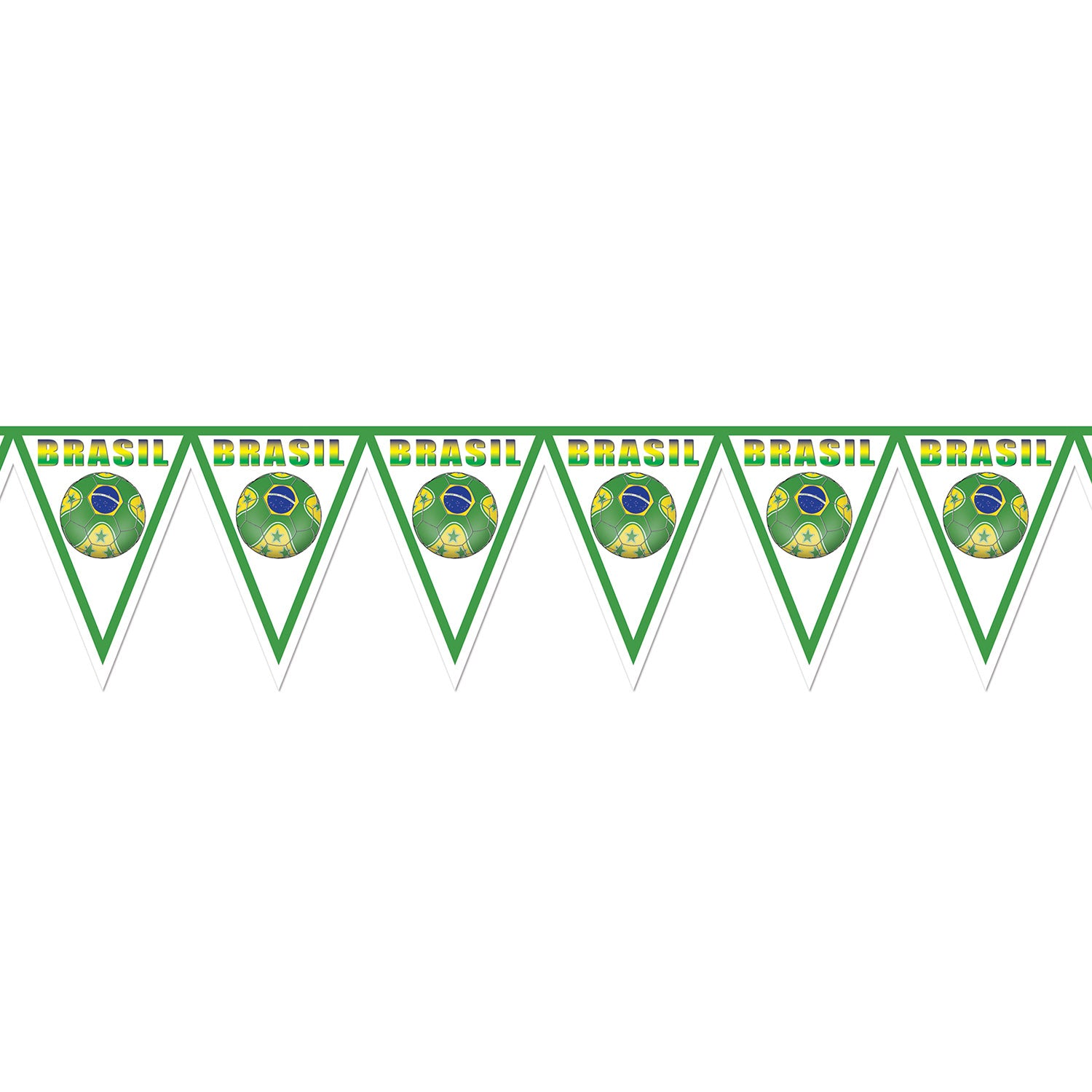 Pennant Banner - Brasil by Beistle - Soccer Theme Decorations