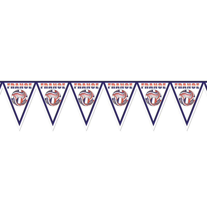 Pennant Banner - France by Beistle - Soccer Theme Decorations