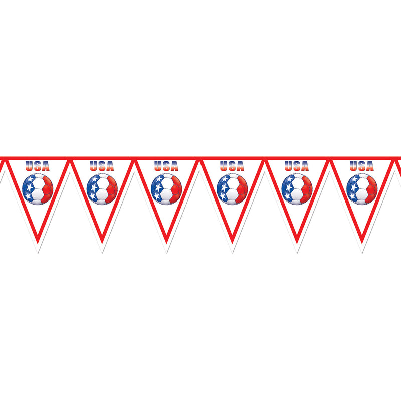 Pennant Banner - United States by Beistle - Soccer Theme Decorations