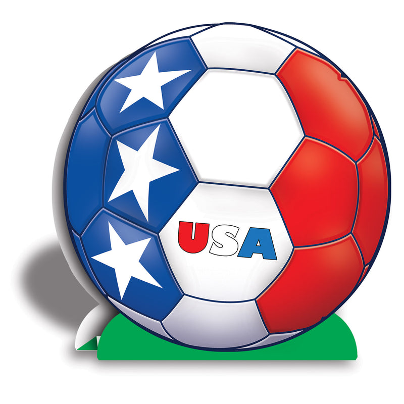 3-D Centerpiece - United States by Beistle - Soccer Theme Decorations