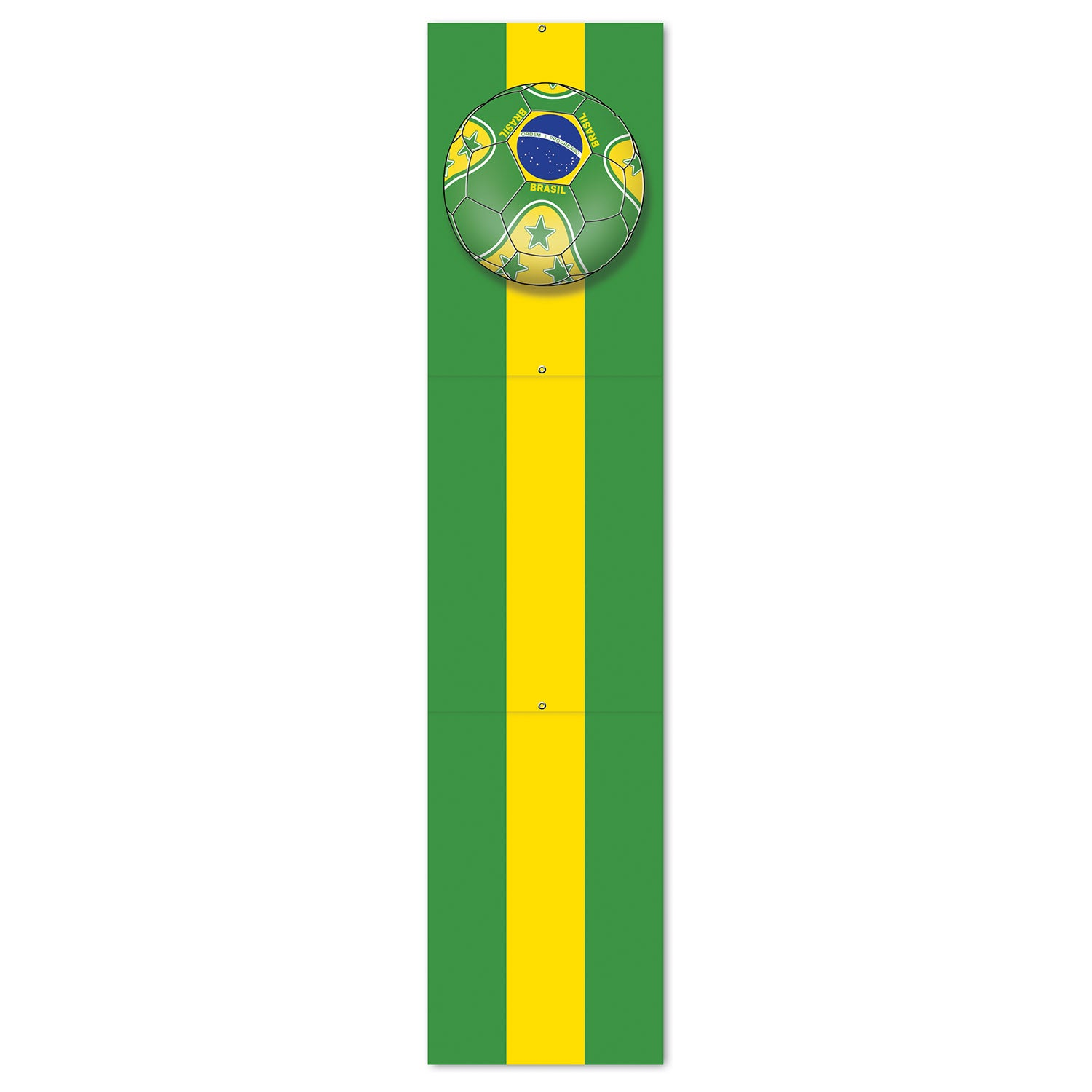 Jointed Pull-Down Cutout - Brasil by Beistle - Soccer Theme Decorations