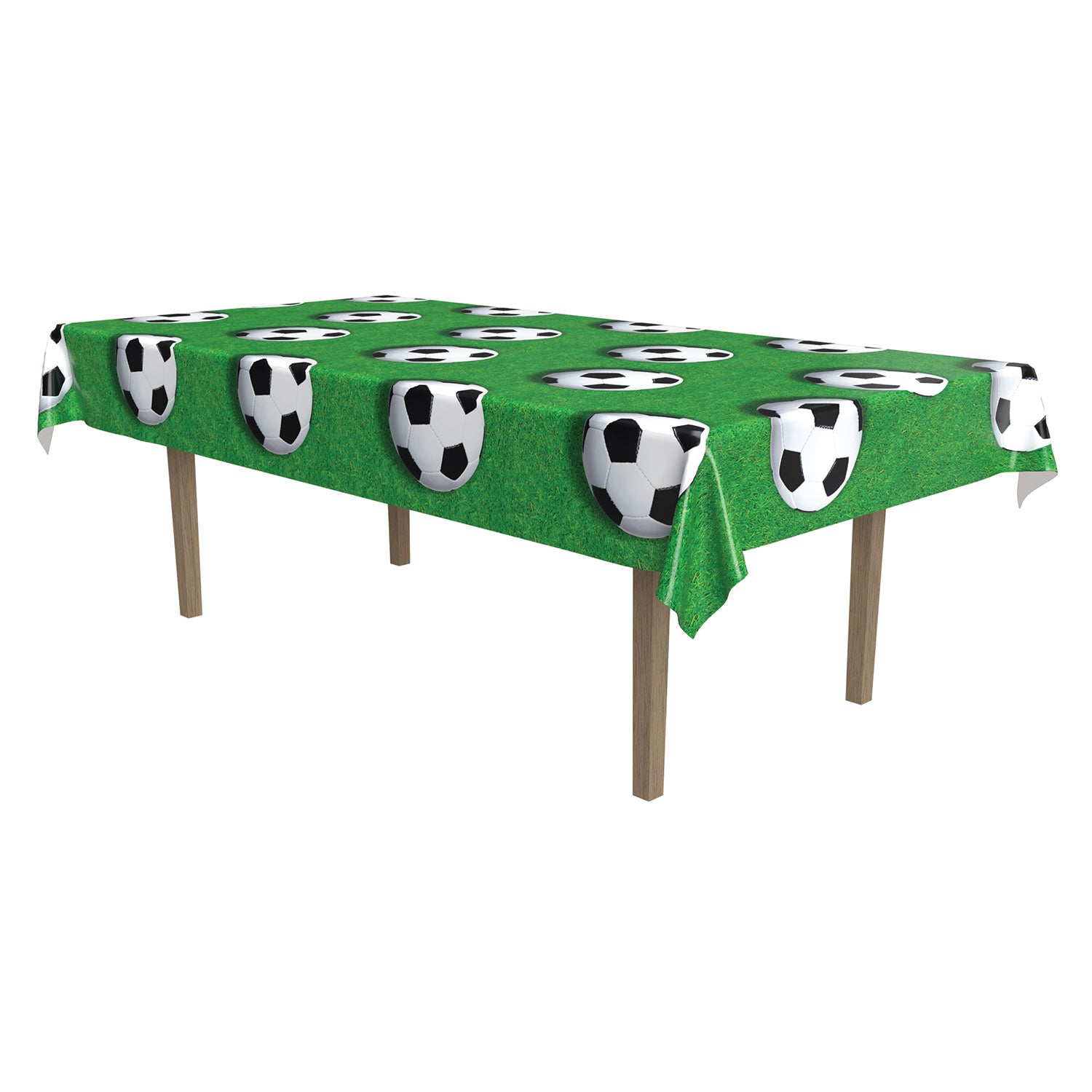 Soccer Ball Tablecover by Beistle - Soccer Theme Decorations