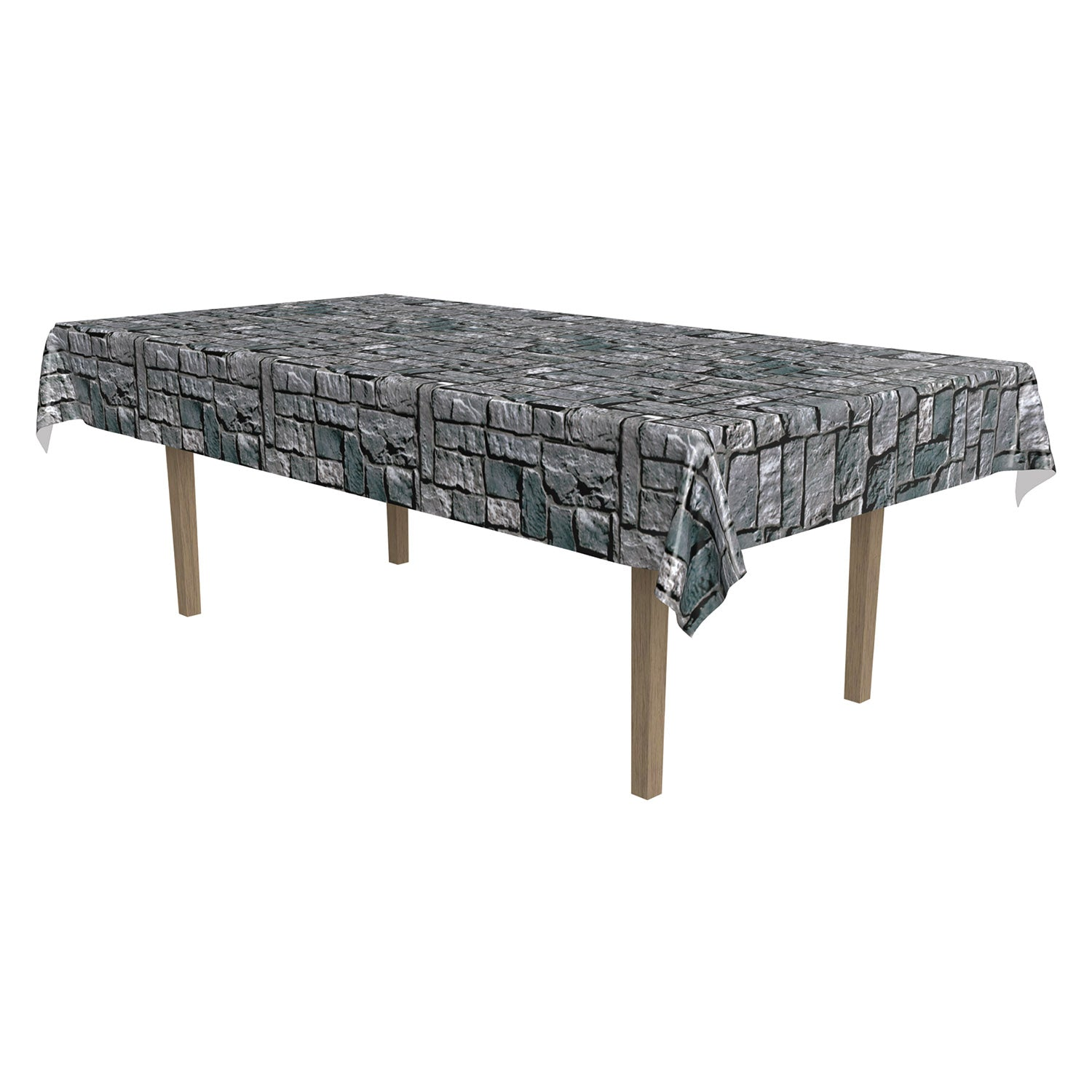 Stone Wall Tablecover by Beistle - Medieval Theme Decorations