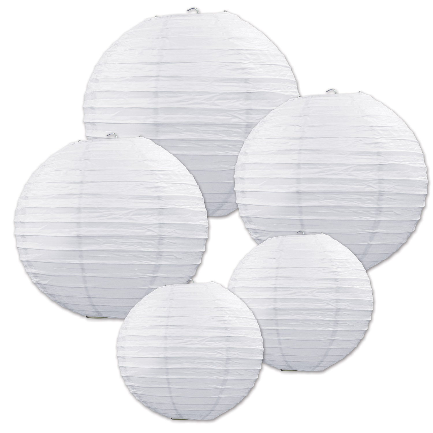 Paper Lantern Assortment (5/Pkg) by Beistle - Wedding Theme Decorations