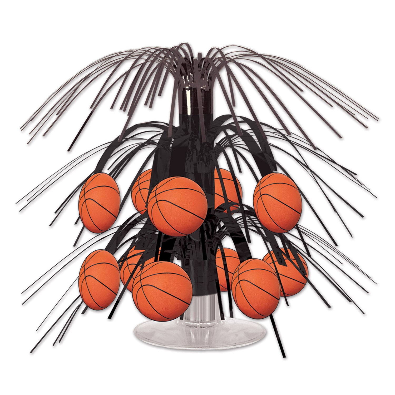 Basketball Mini Cascade Centerpiece by Beistle - Basketball Theme Decorations