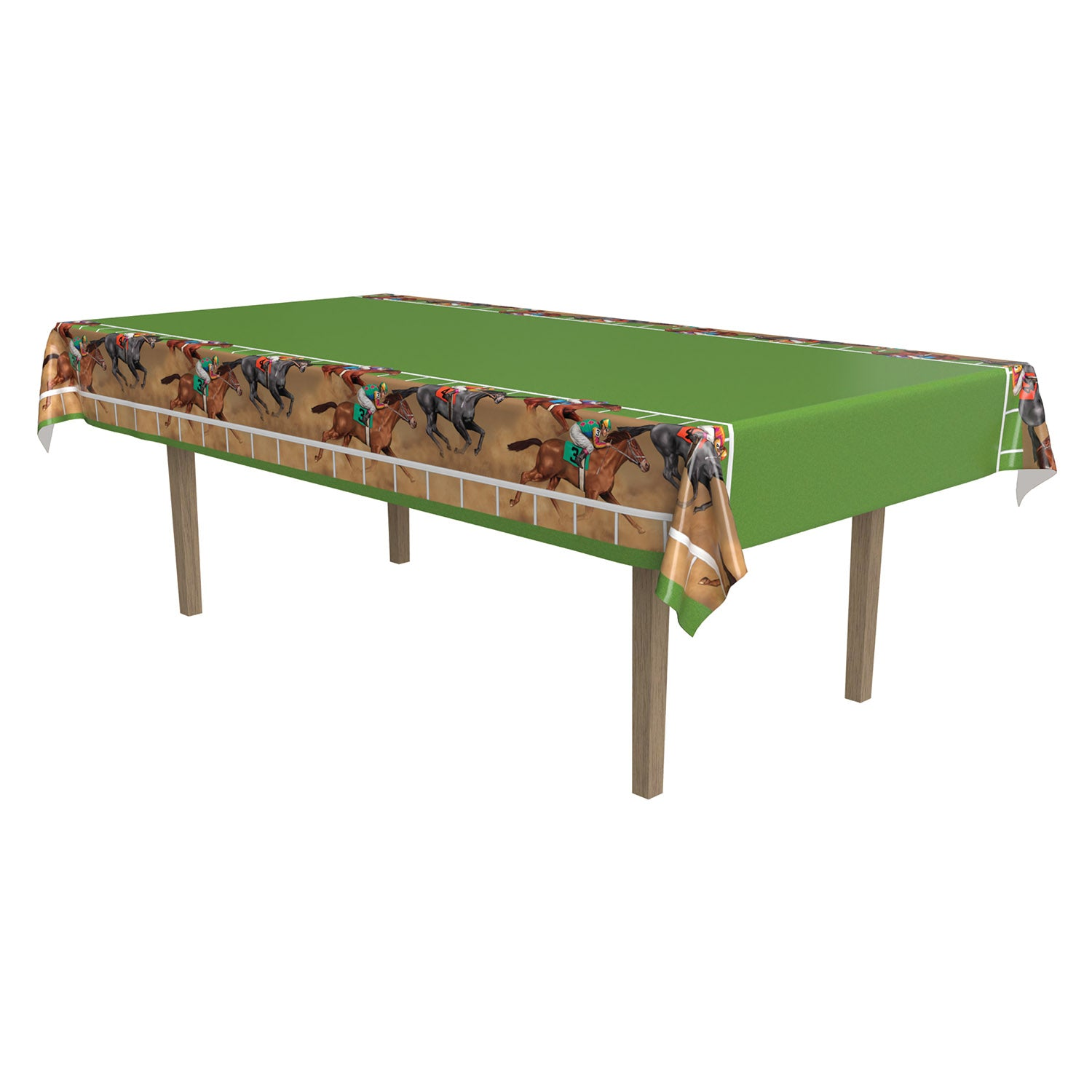 Horse Racing Tablecover by Beistle - Derby Day Theme Decorations