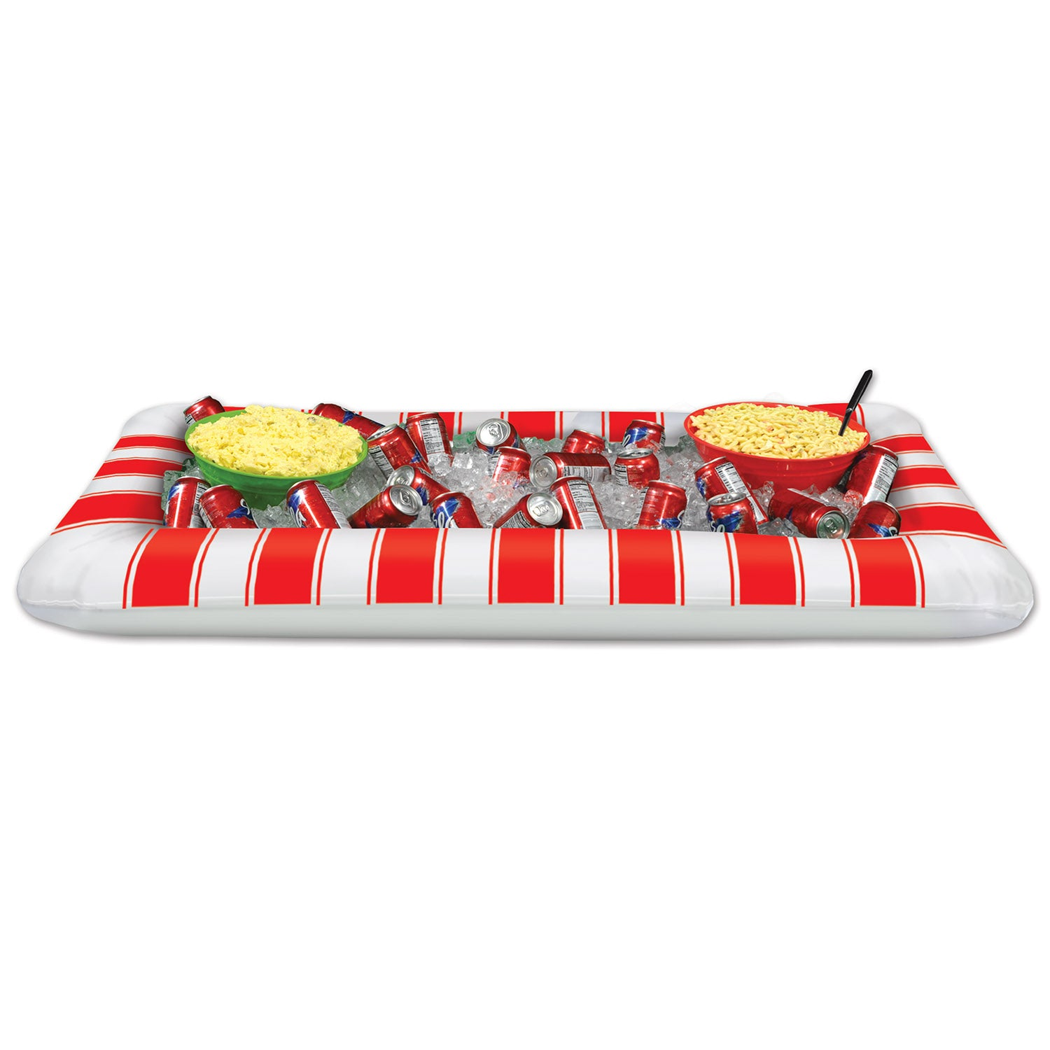 Inflatable Red&White Stripes Buffet Clr by Beistle - Circus Theme Decorations