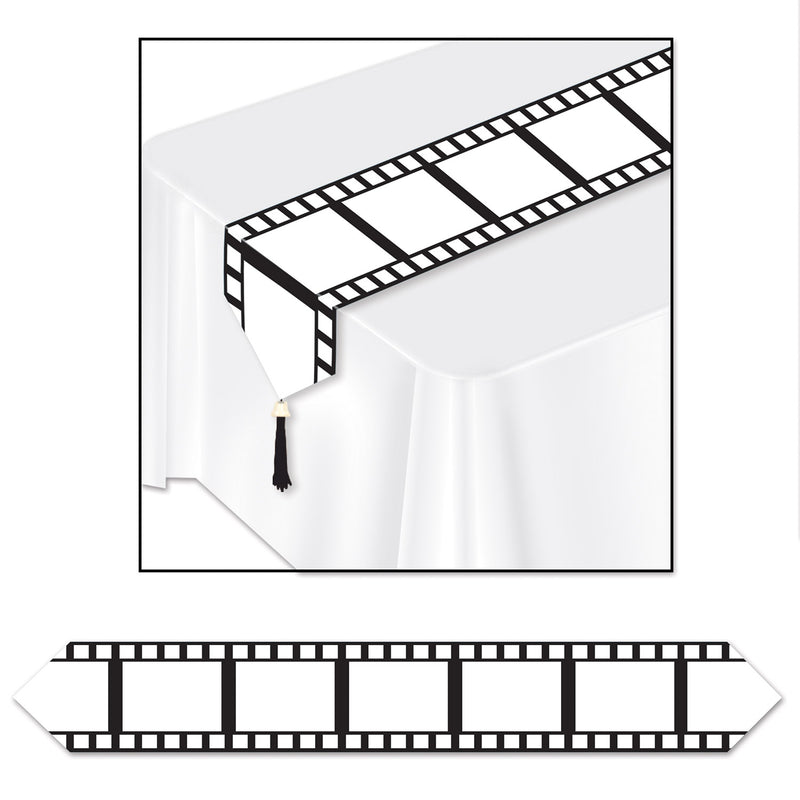 Printed Filmstrip Table Runner by Beistle - Awards Night Theme Decorations