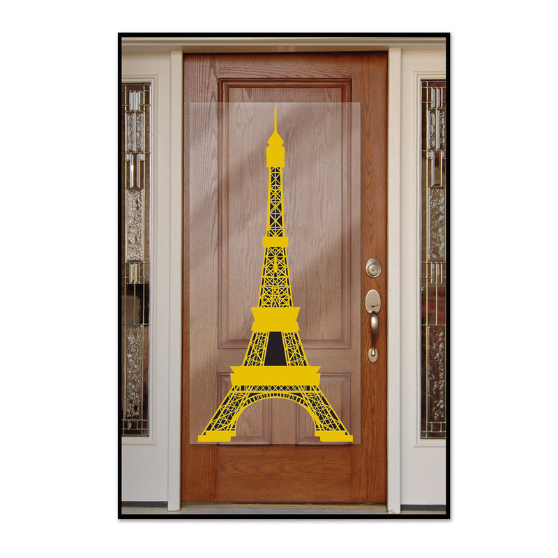 Eiffel Tower Door Cover by Beistle - French Theme Decorations