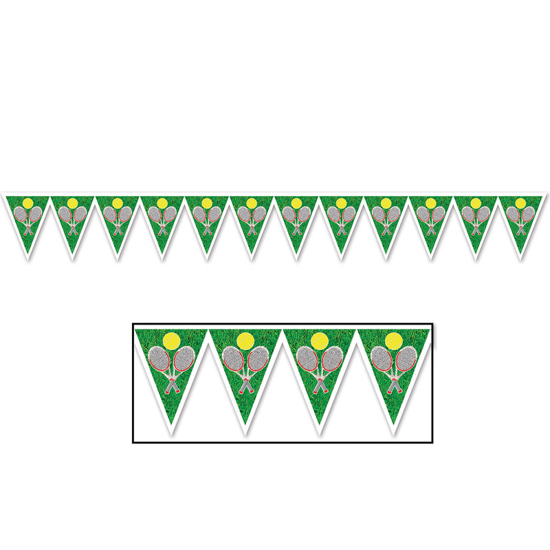 Tennis Pennant Banner by Beistle - Tennis Theme Decorations
