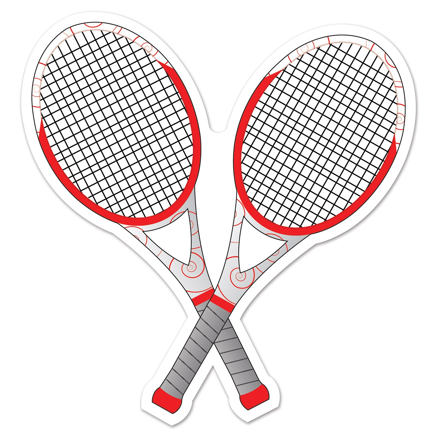 Tennis Racquets Cutout by Beistle - Tennis Theme Decorations