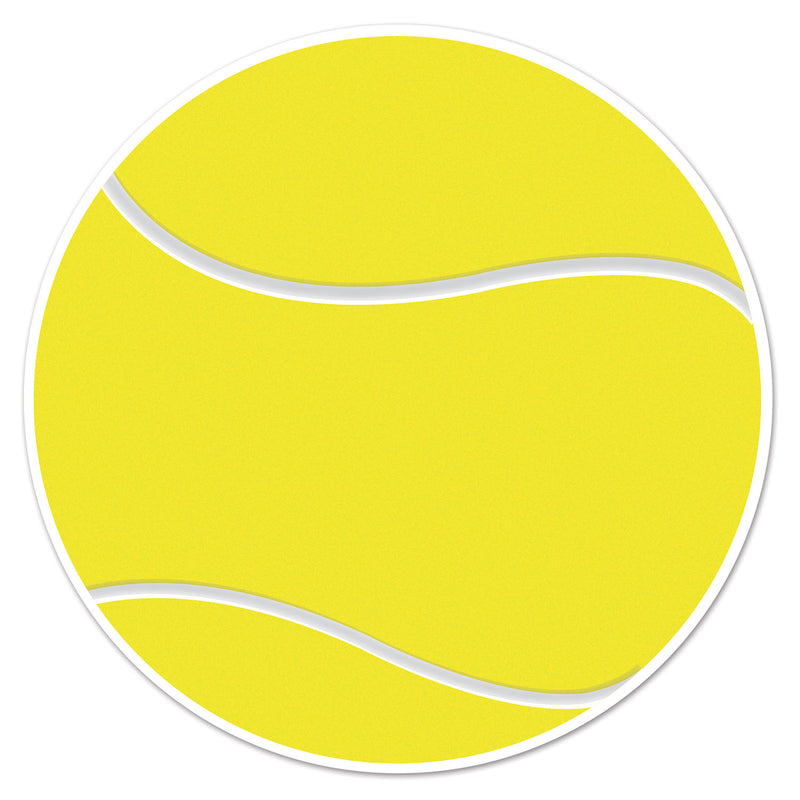 Tennis Ball Cutout by Beistle - Tennis Theme Decorations