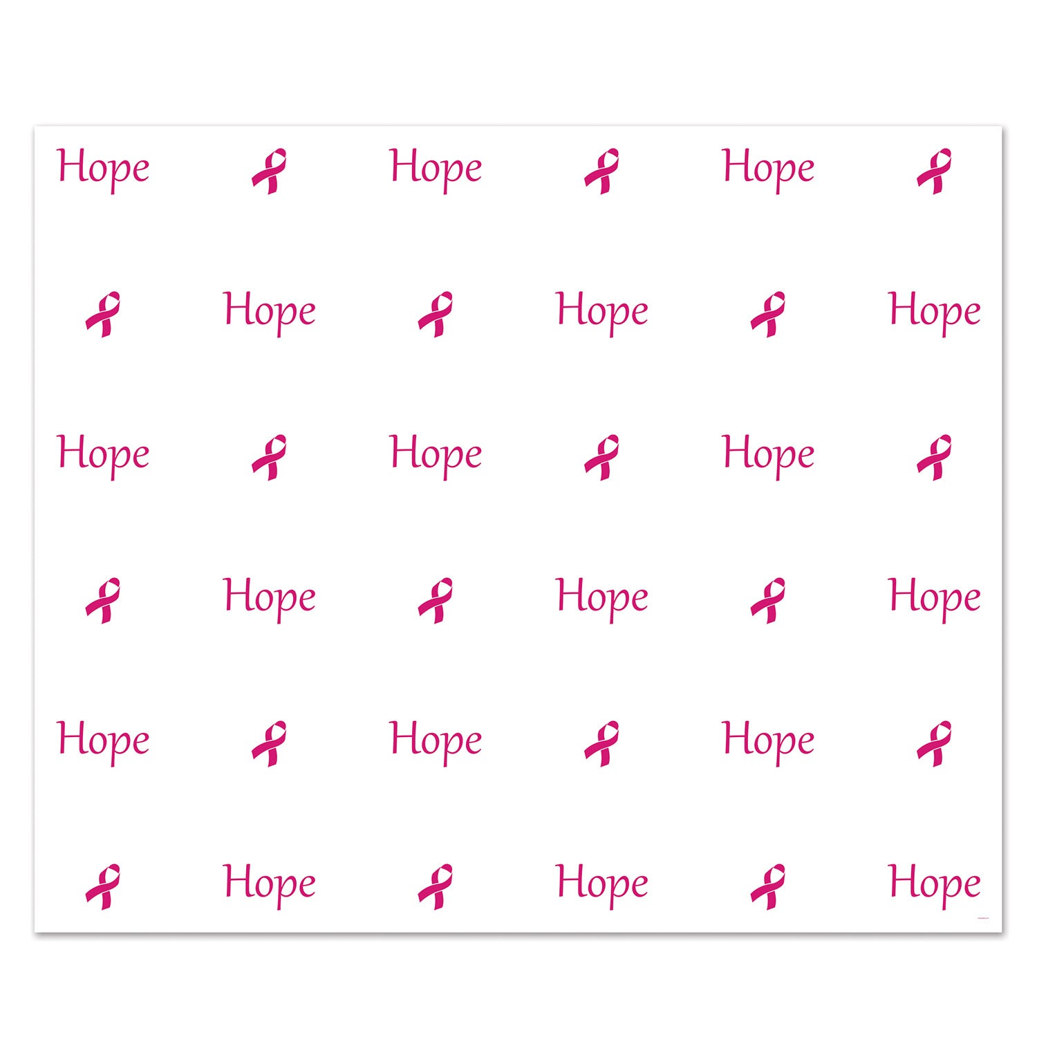 Hope Insta-Mural Photo Op by Beistle - Pink Ribbon Theme Decorations