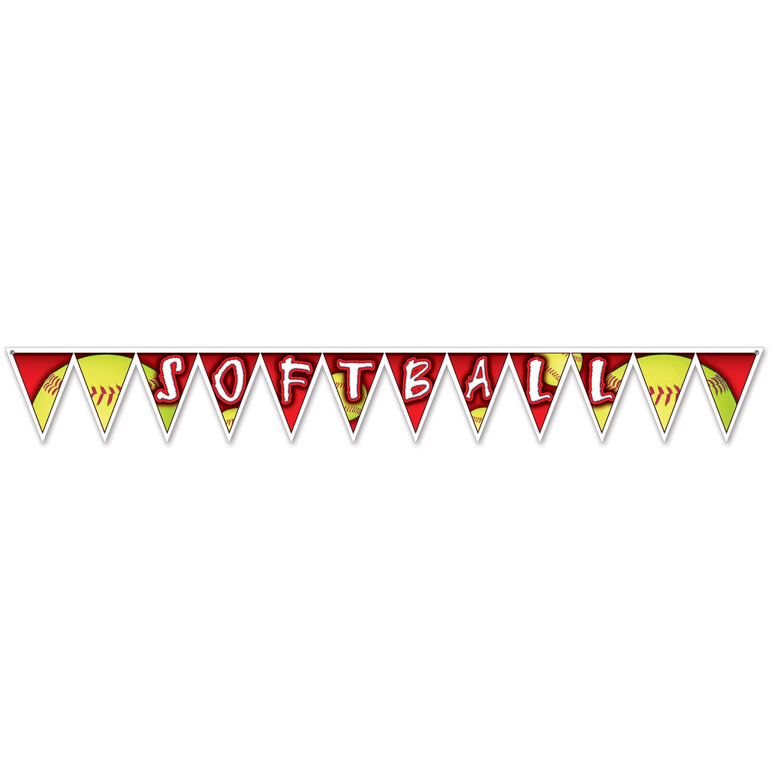 Softball Pennant Banner by Beistle - Softball Theme Decorations