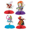 Alice In Wonderland Mini Centerpieces (4/Pkg) by Beistle - Alice In Wonderland Theme Decorations