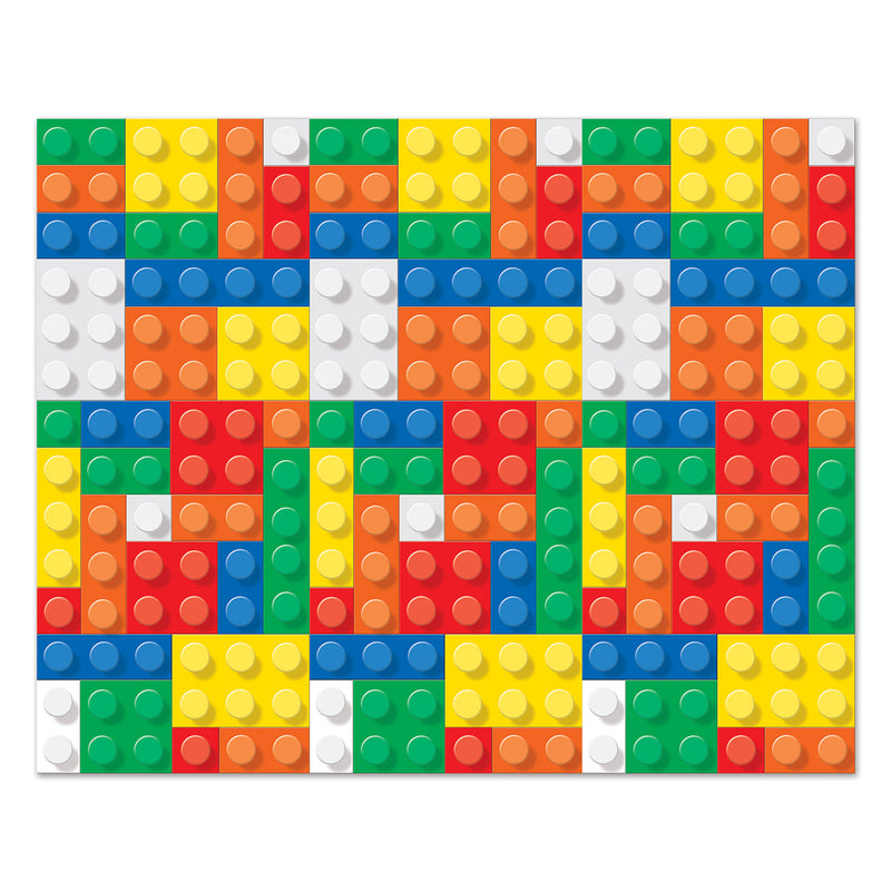 Building Blocks Backdrop by Beistle - Building Blocks Theme Decorations