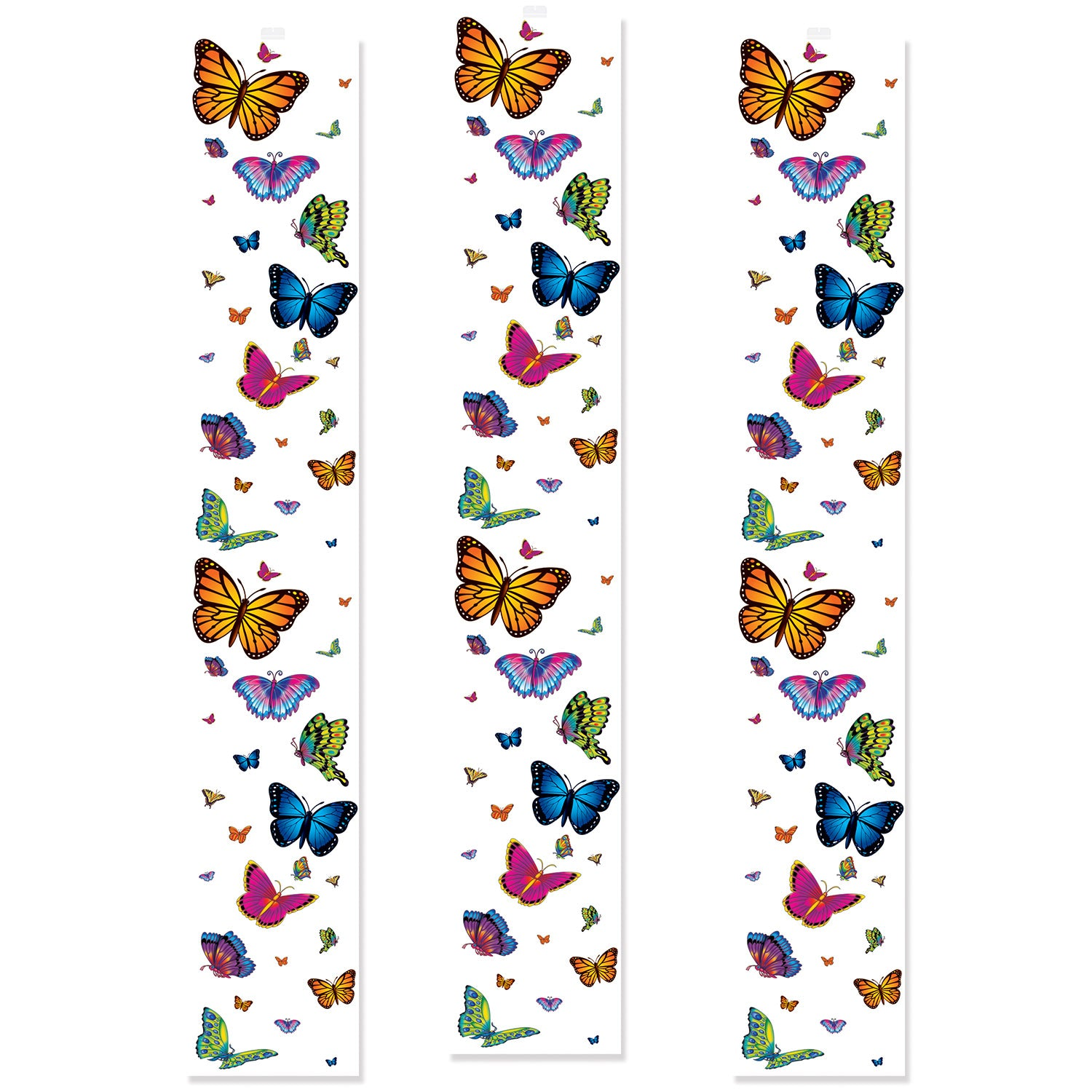 Butterfly Party Panels (3/Pkg) by Beistle - Spring/Summer Theme Decorations