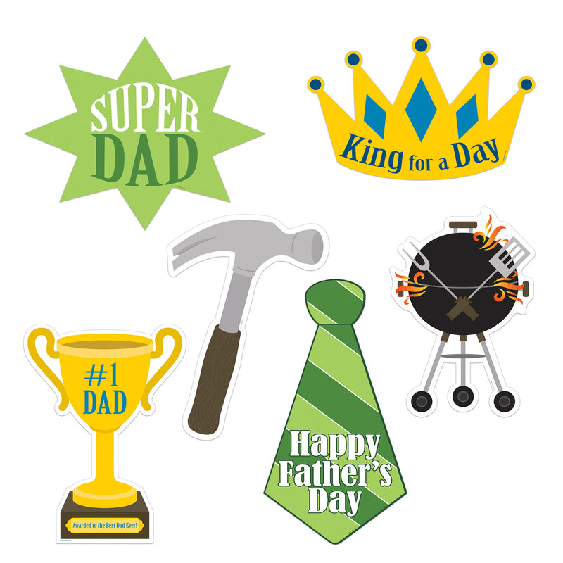 Father's Day Cutouts (6/Pkg) by Beistle - Father's Day Theme Decorations