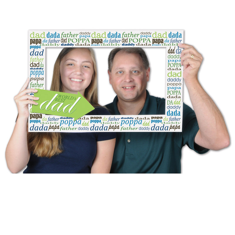 Father's Day Photo Fun Frame by Beistle - Father's Day Theme Decorations