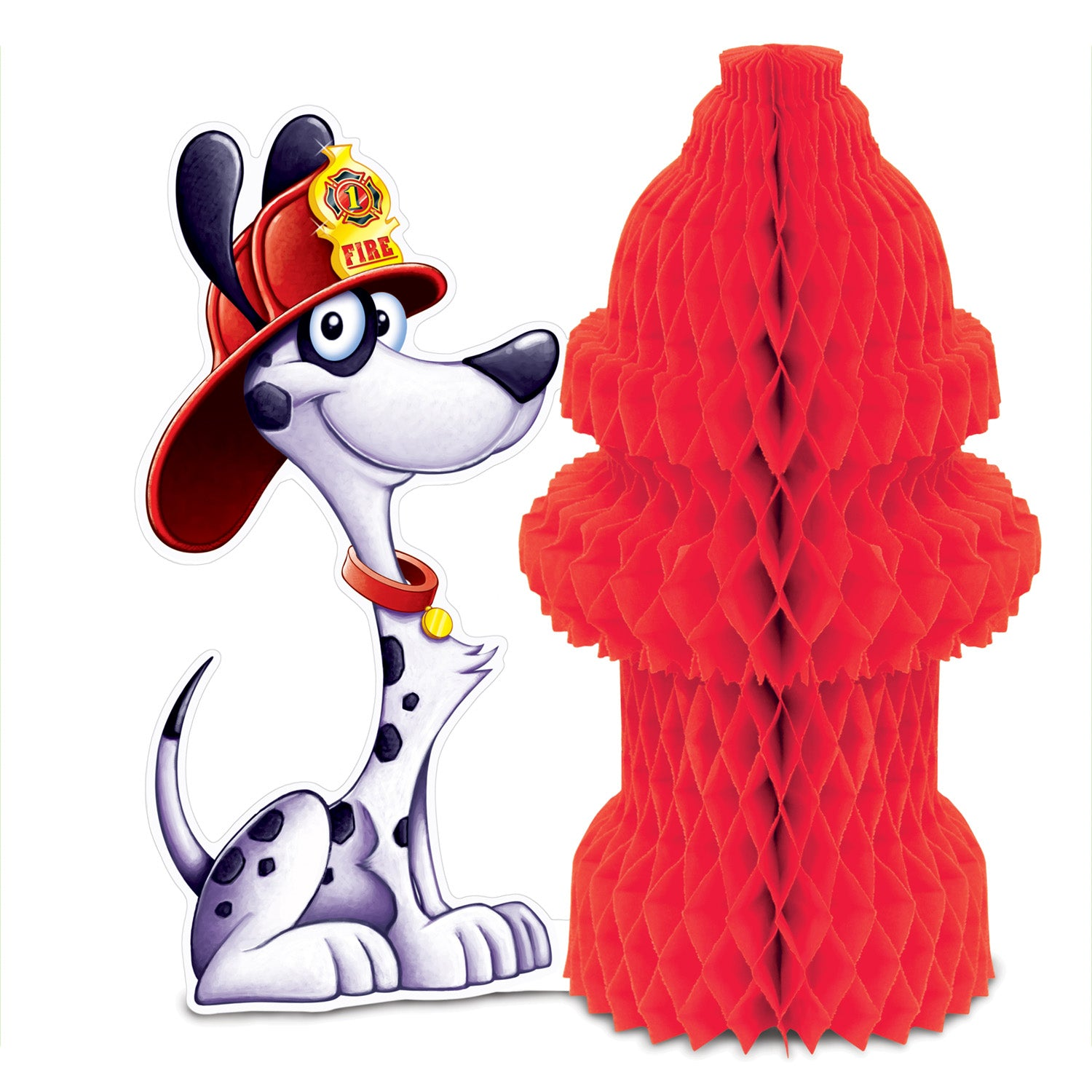 Fire Hydrant Centerpiece by Beistle - Fire Prevention Theme Decorations