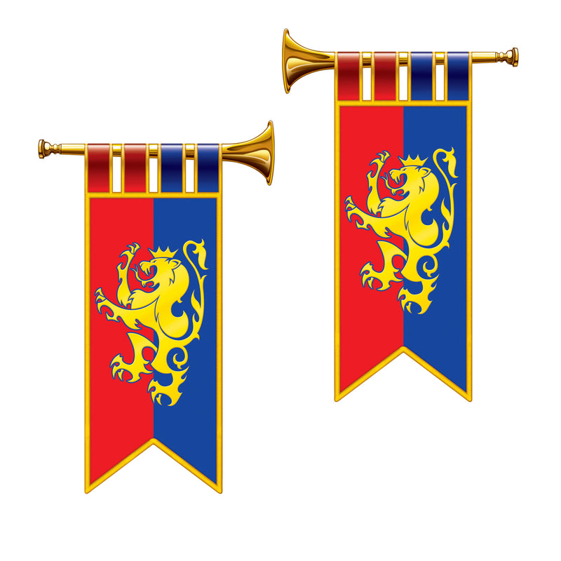 Herald Trumpet Cutouts (2/Pkg) by Beistle - Medieval Theme Decorations