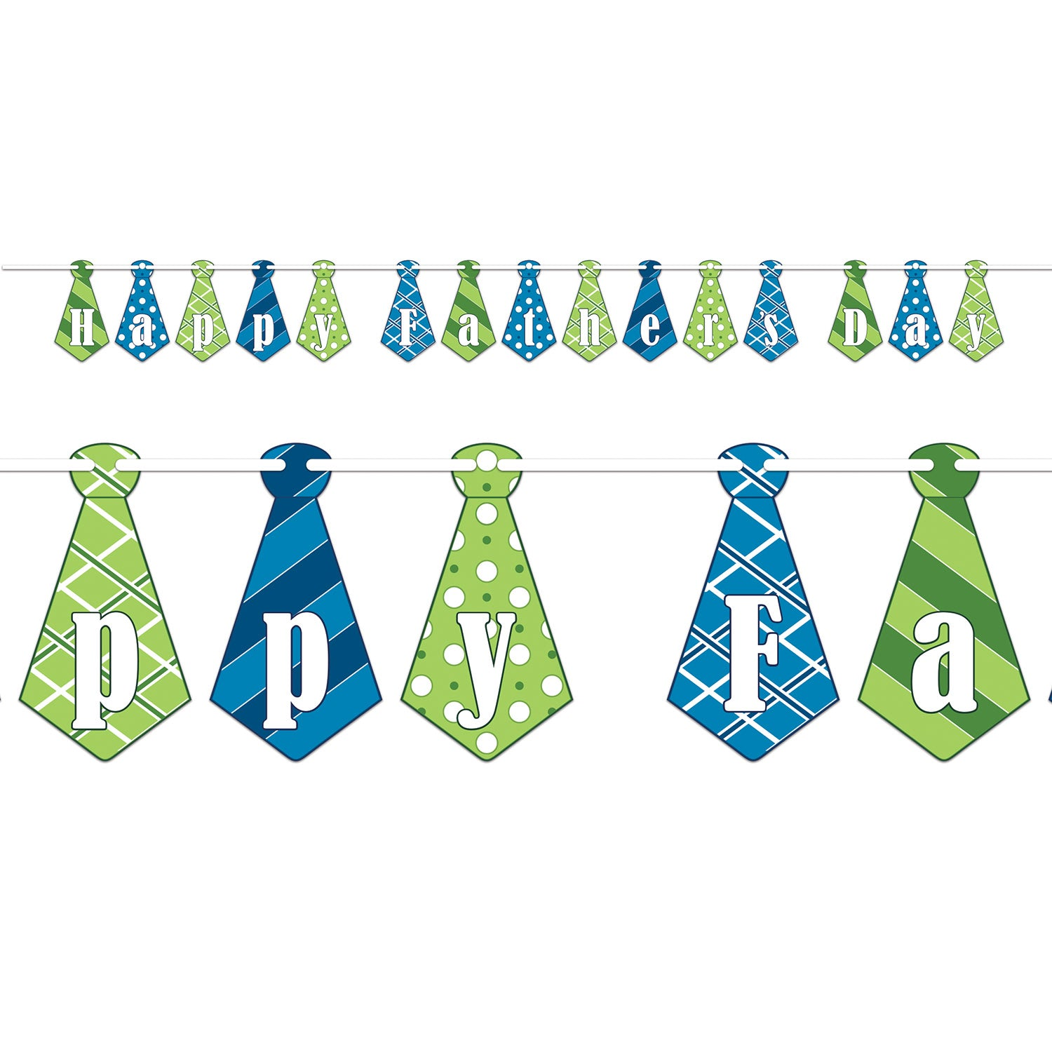 Happy Father's Day Streamer by Beistle - Father's Day Theme Decorations