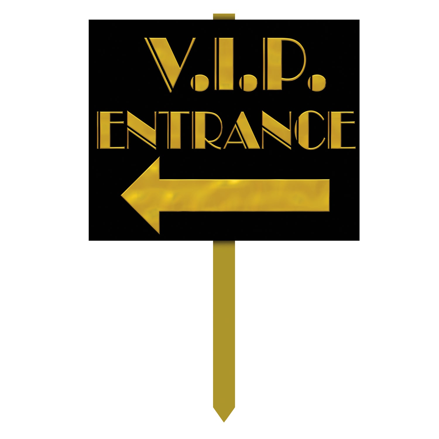 V.I.P. Entrance Yard Sign by Beistle - Awards Night Theme Decorations