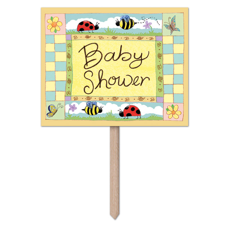 B Is For Baby Yard Sign by Beistle - Baby Shower Theme Decorations