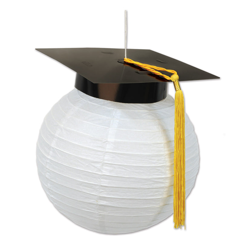 Grad Cap Paper Lanterns (2/Pkg) by Beistle - Graduation Theme Decorations